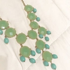 Women's Sea-green and Turquoise Statement Necklace
